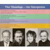 H�rbuch Cover: Vier Monologe